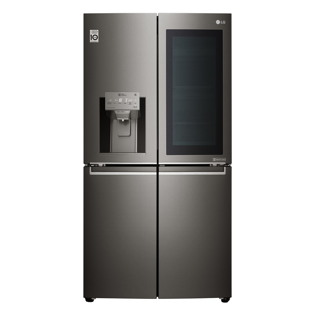 LG Instaview_Multi Door_Black Stainless Steel_Front