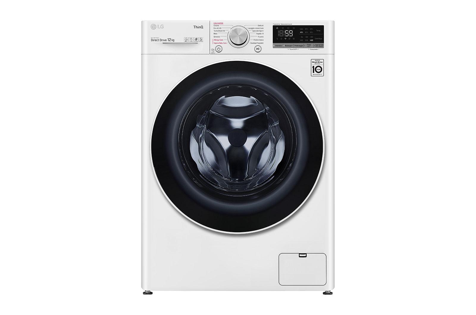 Πλυντήριο Ρούχων 12kg, AI DD™, Ατμού, TurboWash™ - F4WV512S0E main image